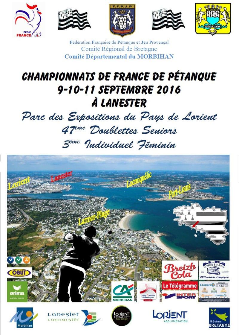 Affiche du championnat de france de pétanque