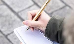 carnet de notes oberthur et stylo