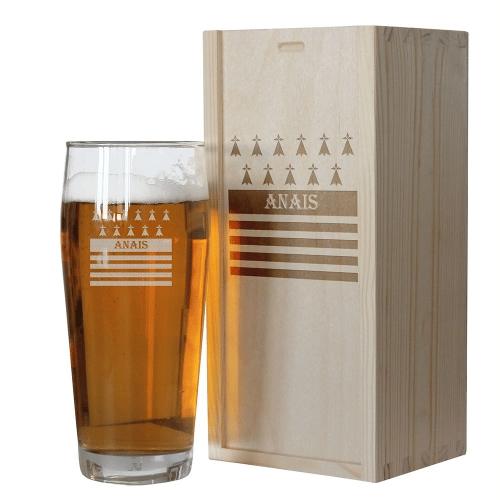 Un verre de bière personnalisé